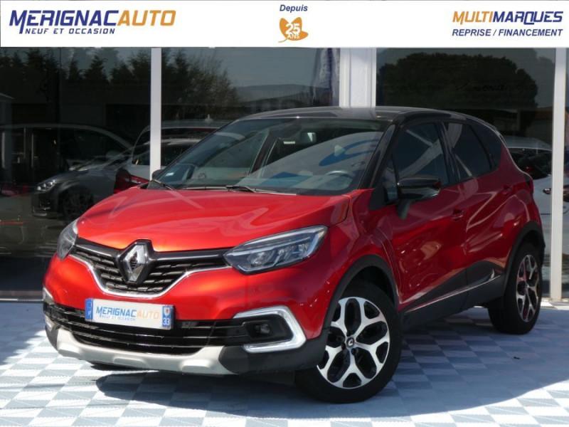 Renault CAPTUR 1.5 dCi 90 EDC INTENS Camera Radars 1ère Main DIESEL ROUGE FLAMME TOIT NOIR Occasion à vendre