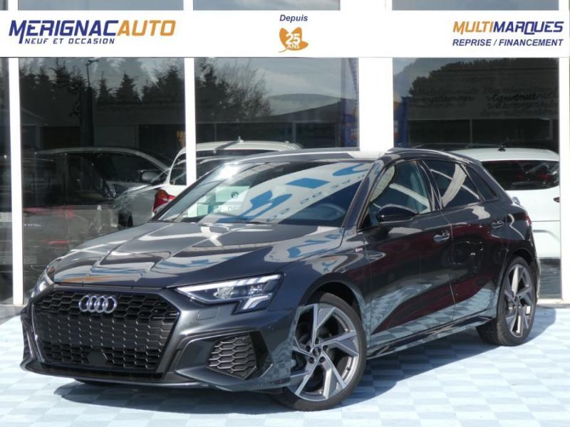Audi A3 SPORTBACK IV 35 TFSI 150 MHEV S Tronic 7 S LINE BLACK LINE JA19 Mirror ESSENCE GRIS DAYTONA Neuf à vendre