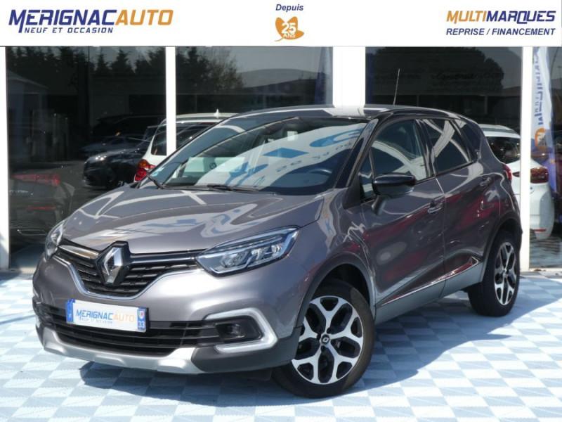 Renault CAPTUR 1.5 dCi 90 EDC INTENS Camera Radars 1ère Main DIESEL GRIS CASSIOPEE TOIT NOIR Occasion à vendre