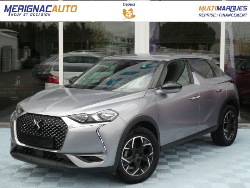 Ds DS3 CROSSBACK BlueHDi 100 BV6 SO CHIC JA17 KeyLess Mirror DIESEL GRIS ARTENSE METAL Occasion à vendre