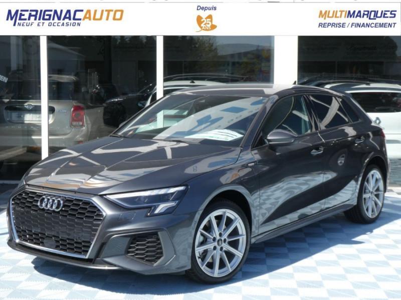 Audi A3 SPORTBACK IV 40 TFSIe 204 S Tronic S LINE Mirror JA18 Sport HYBRIDE ESSENCE RECHARGEABLE GRIS DAYTONA Neuf à vendre