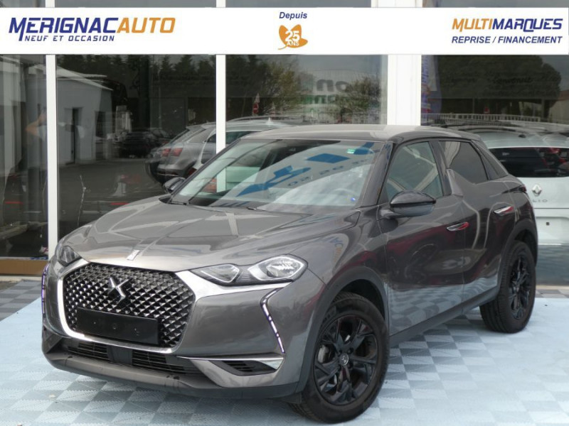 Ds DS3 CROSSBACK BlueHDi 100 BV6 SO CHIC JA17 KeyLess Mirror DIESEL GRIS PLATINIUM Occasion à vendre