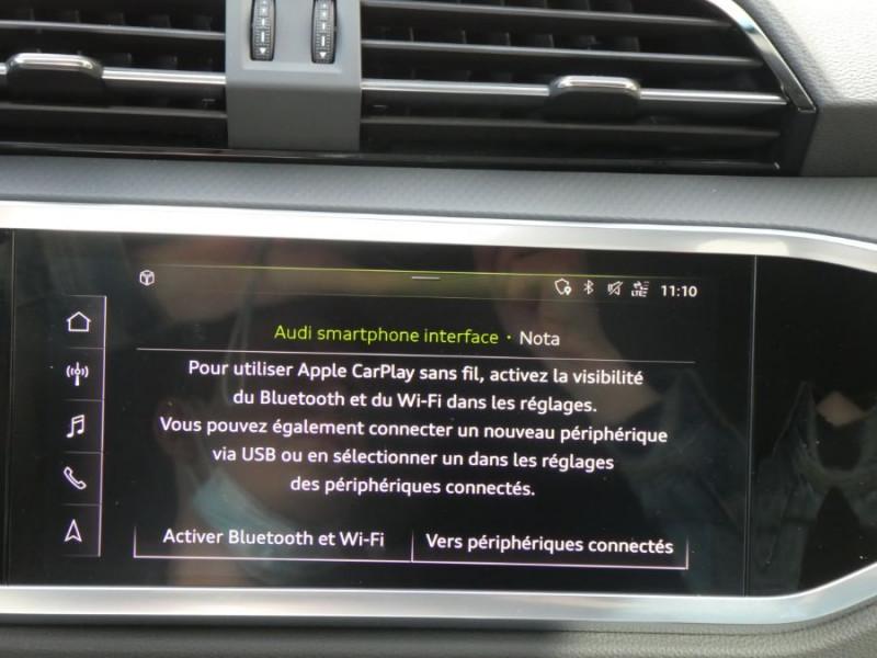 Photo 16 de l'offre de AUDI Q3 SPORTBACK 35 TDI 150 S Tronic 7 2WD GPS Cockpit LED JA18 à 43490€ chez Mérignac auto
