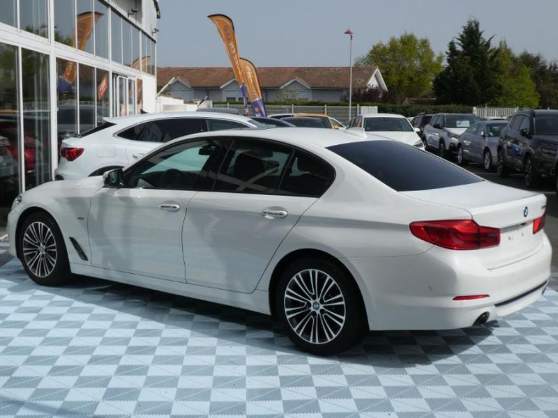 Photo 4 de l'offre de BMW SERIE 5 (G30) 520DA 190 BVA8 SPORTLINE CUIR TOE JA18 Gtie 01/23 à 39290€ chez Mérignac auto