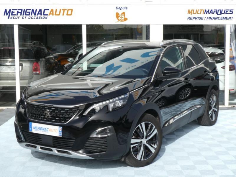 Peugeot 3008 1.2 PureTech 130 BV6 GT LINE Barres Alu ESSENCE NOIR MÉTAL Occasion à vendre