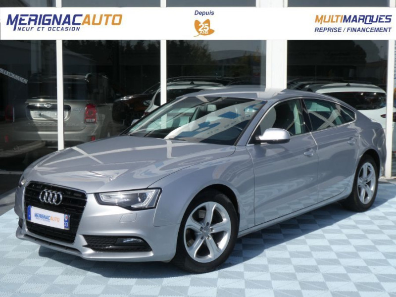 Audi A5 SPORTBACK (2) 2.0 TDI 136 BV6 ATTRACTION 5P 1ère Main DIESEL GRIS ALU MÉTAL Occasion à vendre