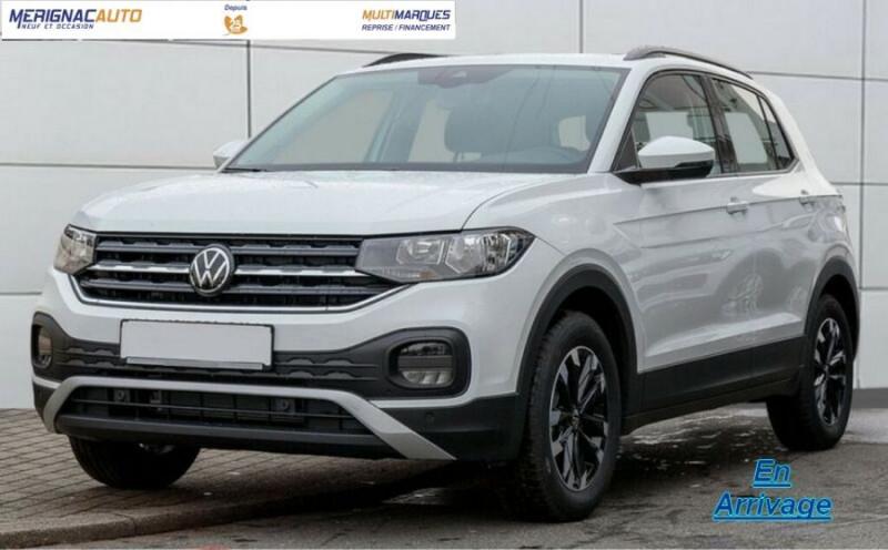 Volkswagen T-CROSS 1.0 TSI 110 DSG7 LOUNGE Camera Radars RER CLIM Auto JA16 Diam. ESSENCE BLANC PUR Neuf à vendre