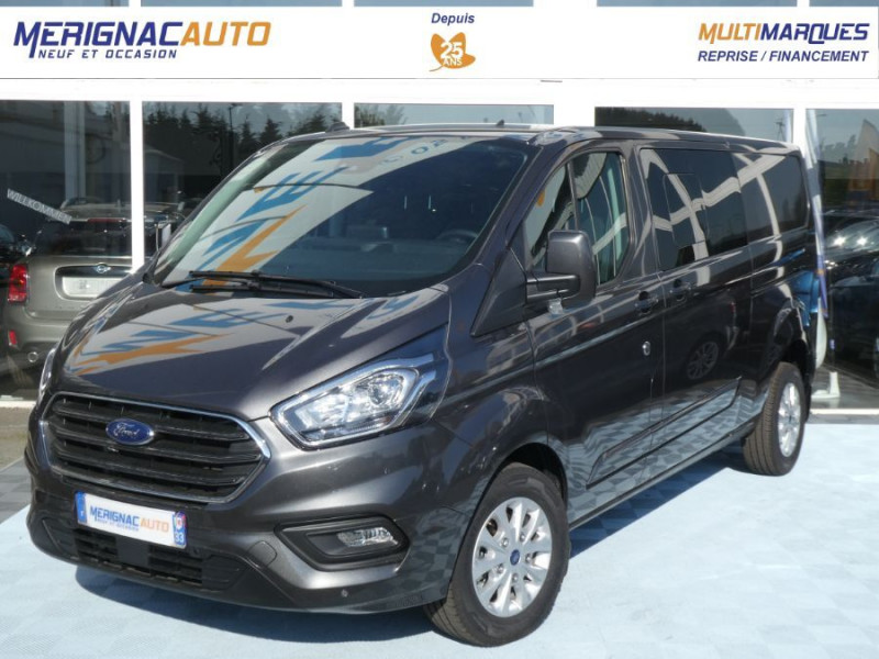 Ford TRANSIT CUSTOM 2.0 EcoBlue 170 BVA 320 L2H1 LIMITED CABINE APPROFONDIE 5PL 28490HT DIESEL GRIS MAGNETIC Neuf à vendre