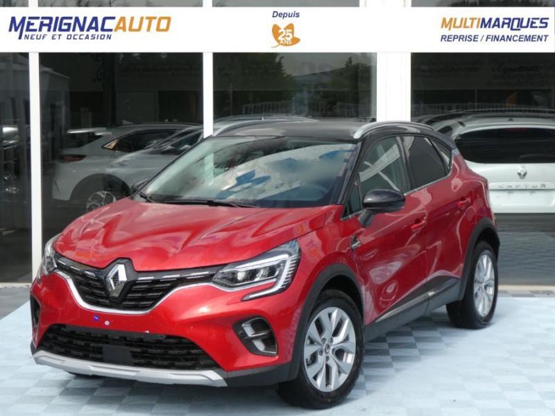 "Renault CAPTUR II TCe 140 EDC7 INTENS TECNO GPS 9.3"" Camera JA17 Barres ESSENCE ROUGE FLAMME TOIT NOIR Neuf à vendre"
