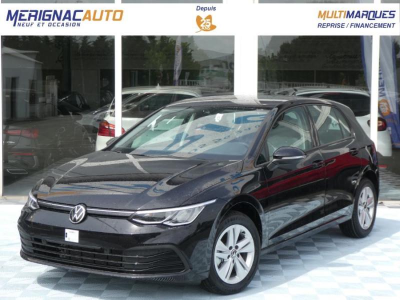 Volkswagen GOLF VIII 1.5 TSI 130 BV6 LIFE GPS Tél. Induction ESSENCE NOIR INTENSE NACREE Neuf à vendre