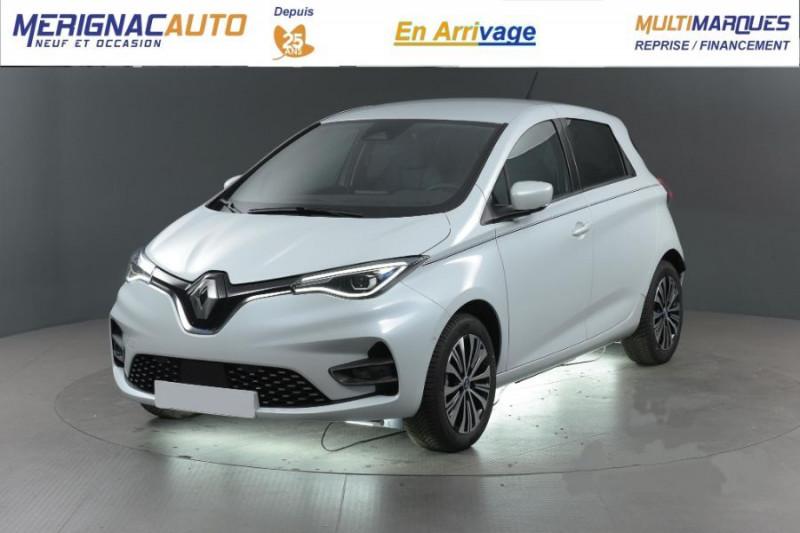 Renault ZOE R135 EXCEPTION CUIR GPS Bose Achat Intégral ELECTRIQUE BLANC QUARTZ NACRE Neuf à vendre