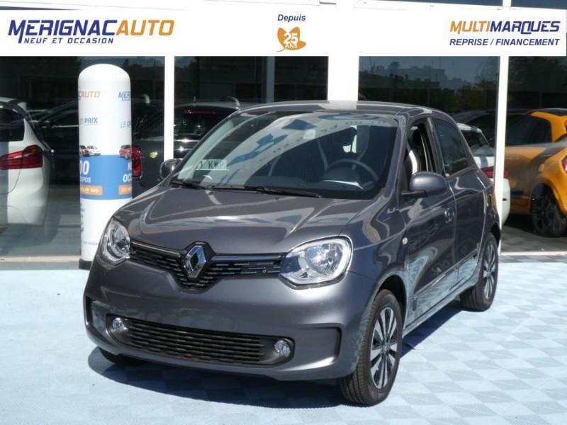 """Renault TWINGO III (2) 1.0 SCe 75 INTENS Ecran 7"""" Pack Confort Clim Auto ESSENCE GRIS LUNAIRE Neuf à vendre"""