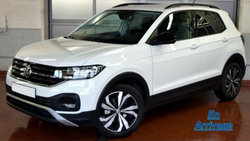 Volkswagen T-CROSS 1.0 TSI 110 DSG7 LOUNGE PACK BLACK Camera JA17 (8 Options) ESSENCE BLANC PUR Neuf à vendre