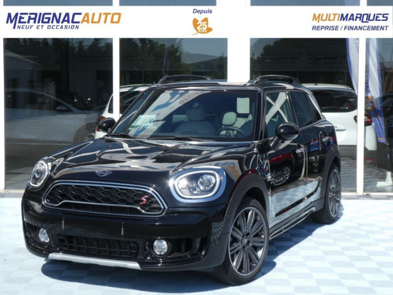 Mini COUNTRYMAN (F60) COOPER S 192 BVA ALL4 EXQUISITE CUIR TOIT Pano JA19 Gtie 07/22 ESSENCE NOIR MIDNIGHT Occasion à vendre