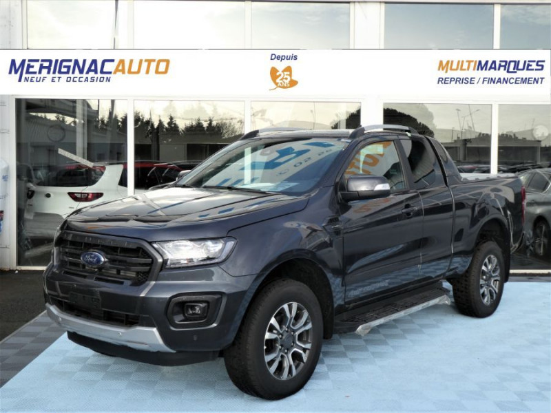 Ford RANGER SUPER CAB 2.0 TDCI 213 BVA10 4WD WILDTRAK Cover Pack Tech. 32900 HT DIESEL GRIS BASALTE METAL FONCE Neuf à vendre