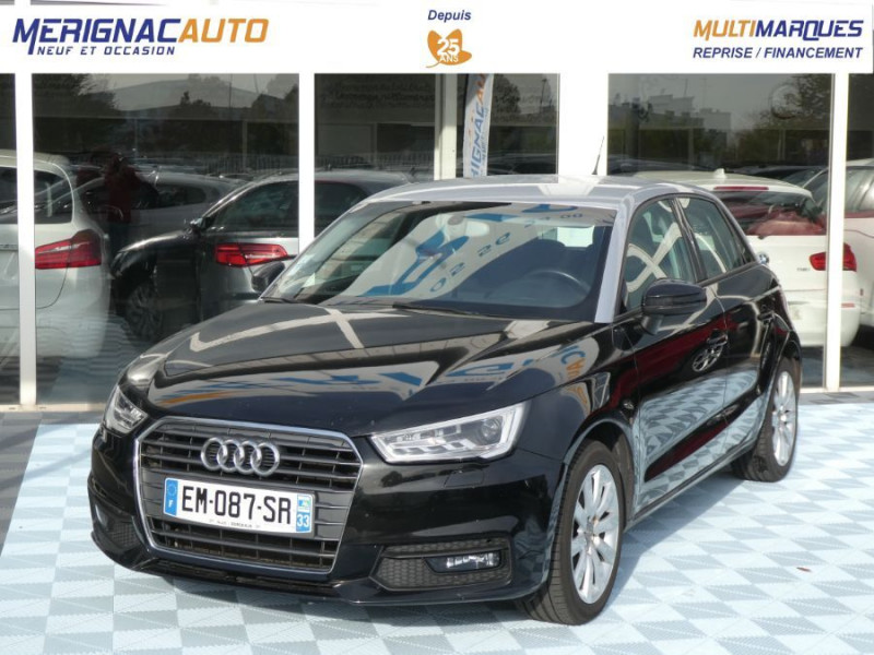 Audi A1 SPORTBACK (2) 1.6 TDI 116 AMBIENTE Xénon JA16 DIESEL NOIR / TOIT ALU Occasion à vendre