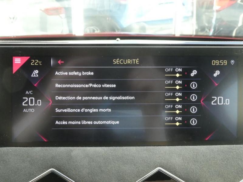 Photo 18 de l'offre de DS DS3 CROSSBACK BlueHDi 130 EAT8 PERFORMANCE LINE + Matrix 1ère Main à 26900€ chez Mérignac auto