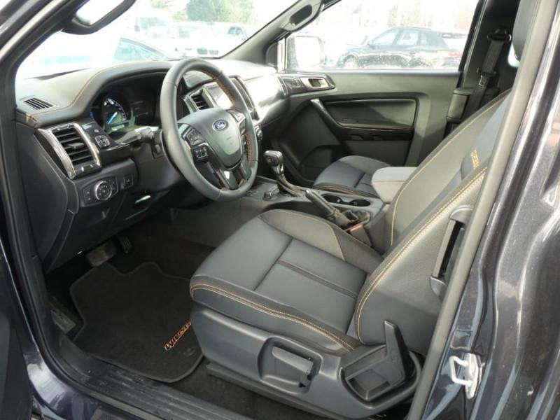 Photo 6 de l'offre de FORD RANGER SUPER CAB 2.0 TDCI 213 BVA10 4WD WILDTRAK Cover Pack Tech. JA Noires 33000HT à 39600€ chez Mérignac auto