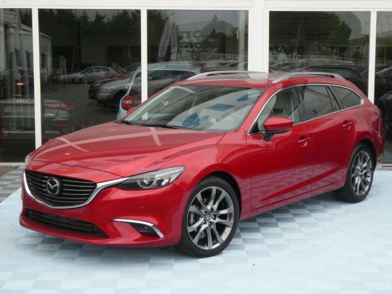 Mazda 6 III WAGON 2.2 SKYACTIV-D 175 BVA SELECTION CUIR TOE DIESEL ROUGE MÉTAL Occasion à vendre