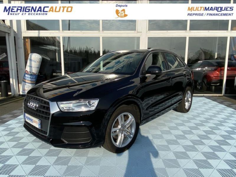 Audi Q3 2.0 TDI 150 BV6 SPORT LINE GPS JA18 Hayon Elect. 1ère Main DIESEL NOIR Occasion à vendre