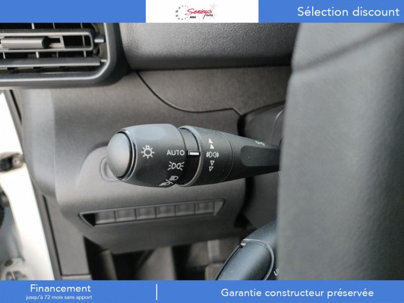 Photo 23 de l'offre de PEUGEOT PARTNER FGN PREMIUM BLUEHDI 100 3PL RADAR à 18800€ chez Garage Serieys Auto