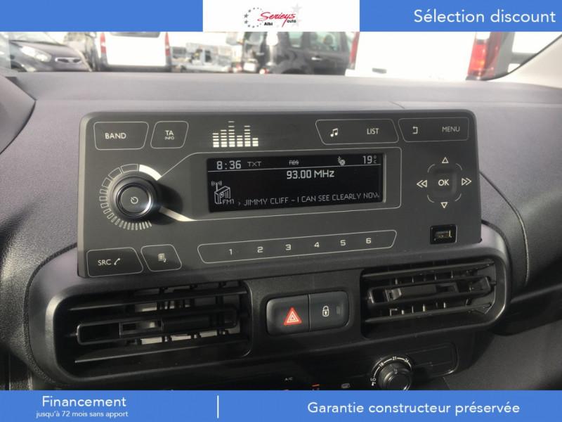 Photo 8 de l'offre de PEUGEOT PARTNER FGN PRO BLUEHDI 100 CLIM+2P 1000KG à 16980€ chez Garage Serieys Auto