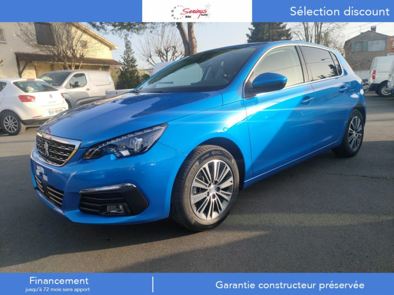 Photo 1 de l'offre de PEUGEOT 308 Allure Pack BlueHDi 130 EAT8 Full Led+JA16 Biton à 24480€ chez Garage Serieys Auto