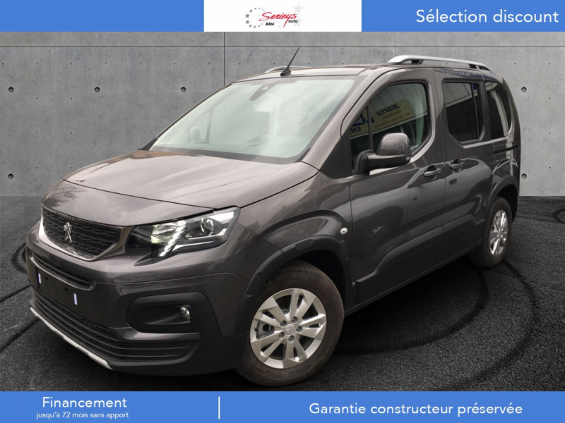 Peugeot RIFTER Allure Pack BlueHDi 130 GPS+Camera Diesel GRIS PLATINIUM METAL Neuf à vendre