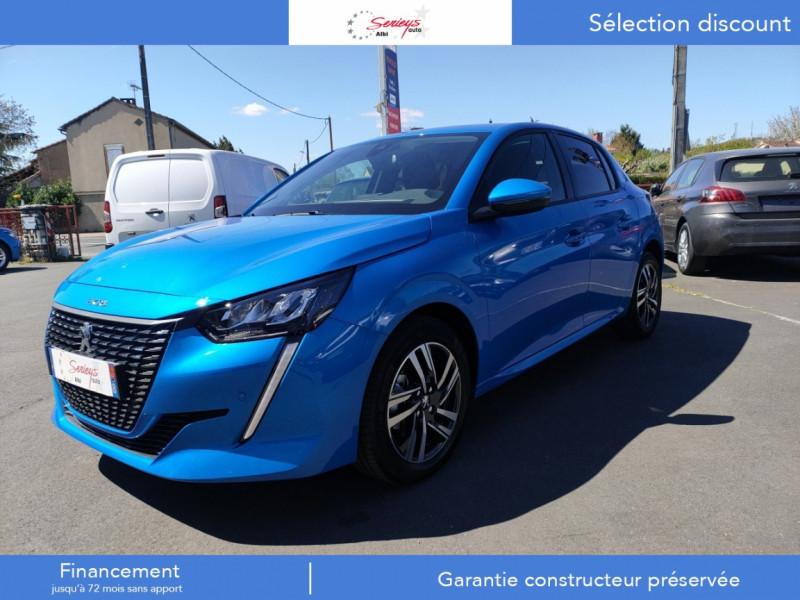 Peugeot 208 Allure Pack BlueHDI 100 Camera AR Diesel BLEU VERTIGO NACRE Occasion à vendre