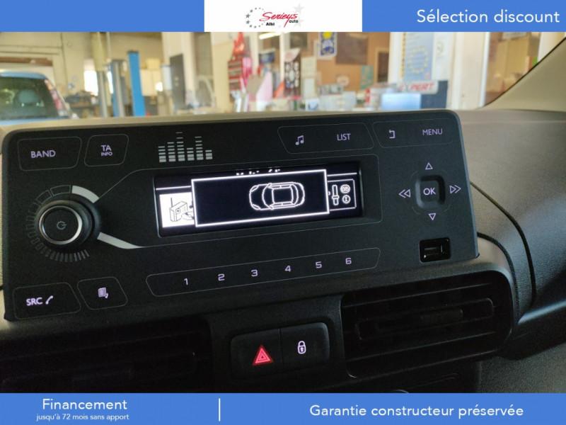 Photo 10 de l'offre de PEUGEOT PARTNER FGN PRO BLUEHDI 100 STD CAMERA+3PL à 18480€ chez Garage Serieys Auto