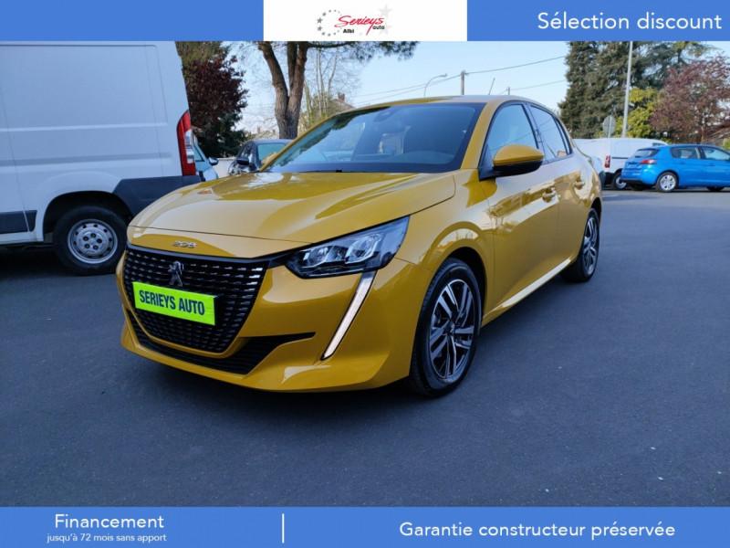 Peugeot 208 Allure Pack BlueHDi 100 Camera AR GPS Diesel JAUNE MOUTARDE Occasion à vendre