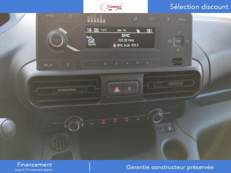 Photo 25 de l'offre de PEUGEOT PARTNER FGN PRO BLUEHDI 100 STD CAMERA+3PL à 18480€ chez Garage Serieys Auto