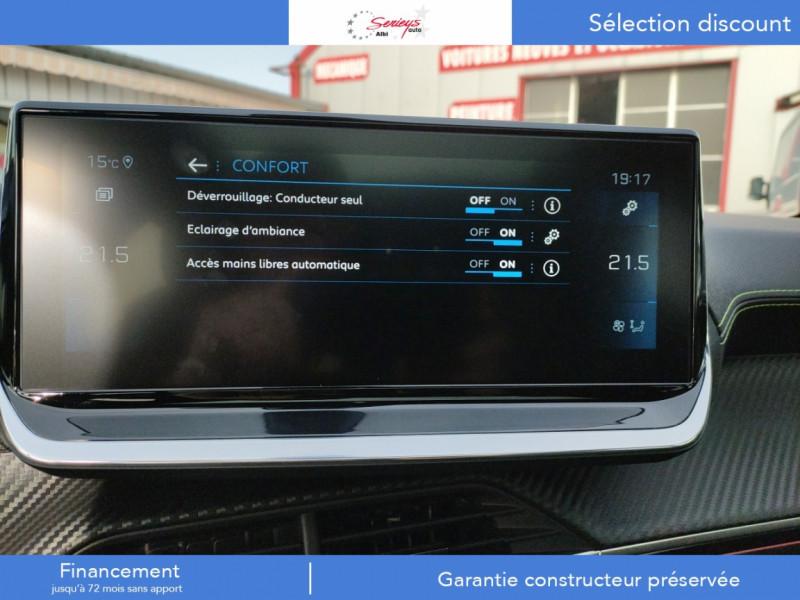 Photo 14 de l'offre de PEUGEOT 208 GT Pack BlueHDi 100 Camera AR+Toit Pan à 23880€ chez Garage Serieys Auto