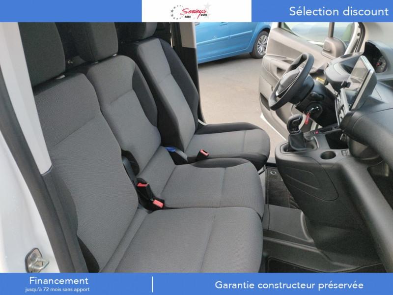 Photo 11 de l'offre de PEUGEOT PARTNER FGN PREMIUM BLUEHDI 100 3 PL à 18900€ chez Garage Serieys Auto