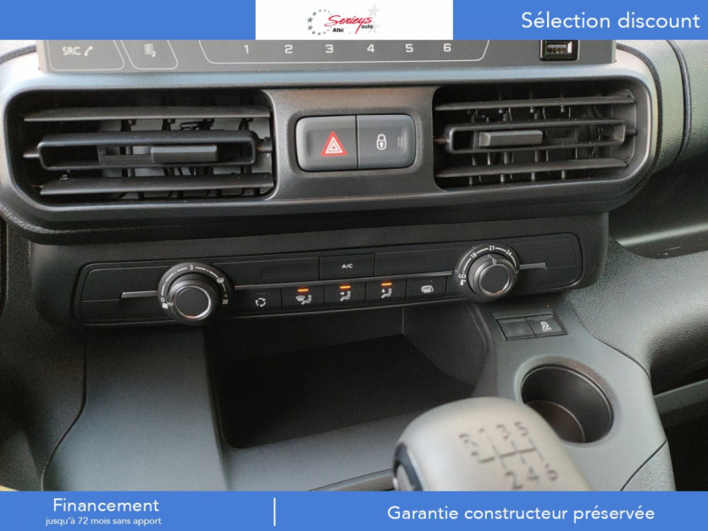 Photo 3 de l'offre de PEUGEOT PARTNER FGN PRO PURETECH 110 CLIM+REGUL+2P à 15980€ chez Garage Serieys Auto