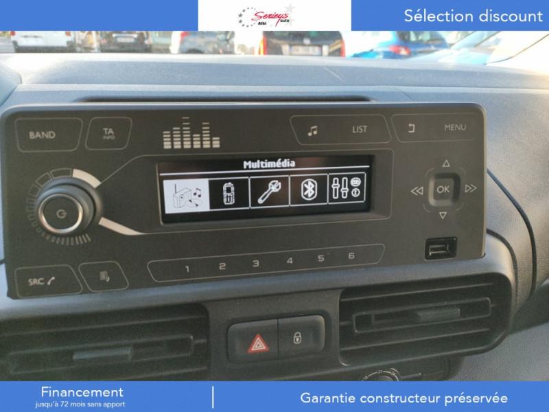 Photo 29 de l'offre de PEUGEOT PARTNER FGN PRO BLUEHDI 100 STD CAMERA+3PL à 18480€ chez Garage Serieys Auto