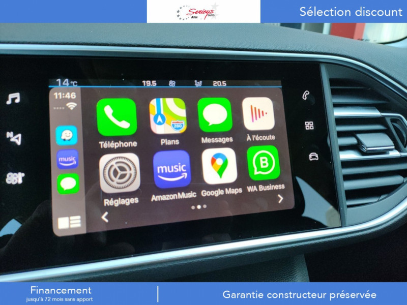 Photo 16 de l'offre de PEUGEOT 308 Active Pack BlueHDi 130 GPS+Camera AR à 20980€ chez Garage Serieys Auto