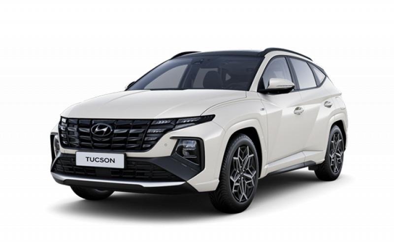 Hyundai TUCSON N Line Sensation CRDi 136 hybrid 48V DCT-7 Diesel BLANC Neuf à vendre