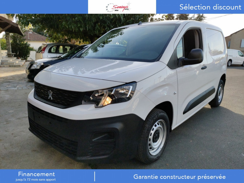 Peugeot PARTNER PRO BLUEHDI 100 2PL 600 KG STD Diesel BLANC Neuf à vendre