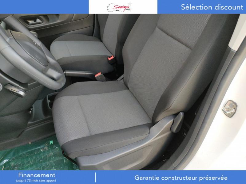 Photo 10 de l'offre de PEUGEOT PARTNER PRO BLUEHDI 100 2PL 600 KG STD à 19480€ chez Garage Serieys Auto