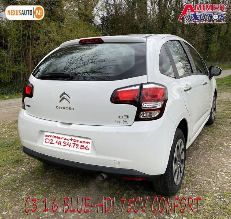 Photo 4 de l'offre de CITROEN C3 1.6 BLUEHDI75 CONFORT à 7490€ chez Amimer autos