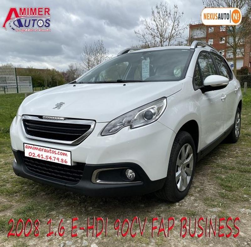 Peugeot 2008 1.6 E-HDI92 FAP BUSINESS Diesel BLANC Occasion à vendre