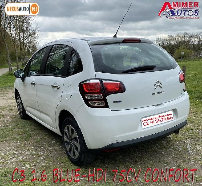 Photo 3 de l'offre de CITROEN C3 1.6 BLUEHDI75 CONFORT à 7490€ chez Amimer autos