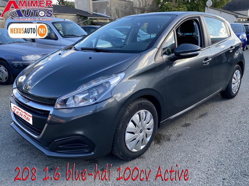 Peugeot 208 1.6 BLUEHDI 100CH ACTIVE 5P Diesel GRIS Occasion à vendre