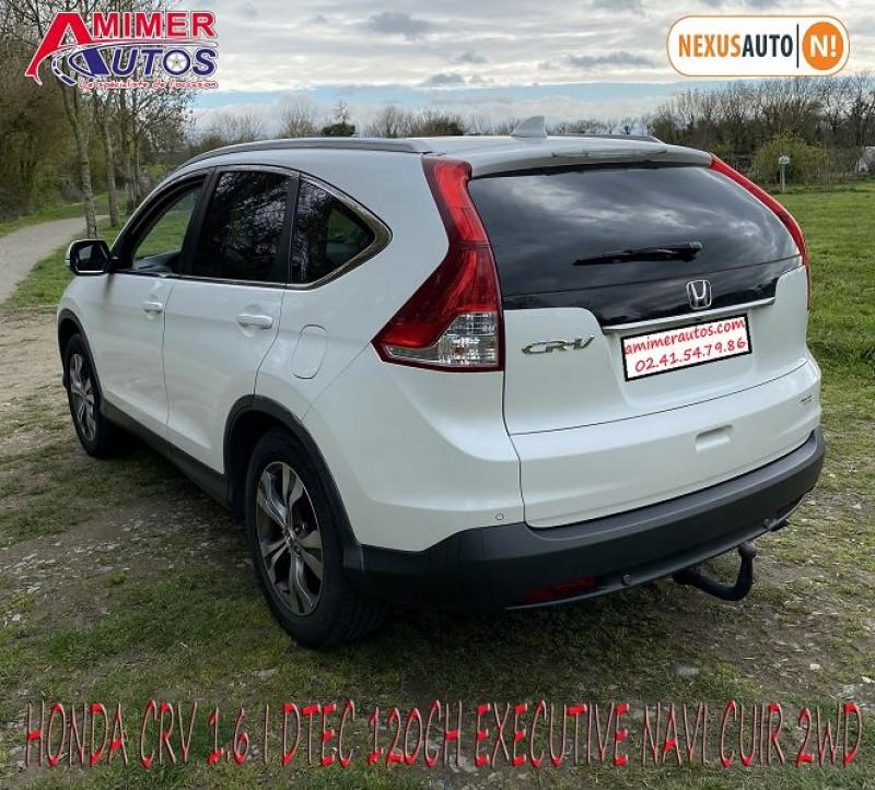 Photo 3 de l'offre de HONDA CR-V 1.6 I-DTEC 120CH EXECUTIVE NAVI CUIR 2WD à 12200€ chez Amimer autos