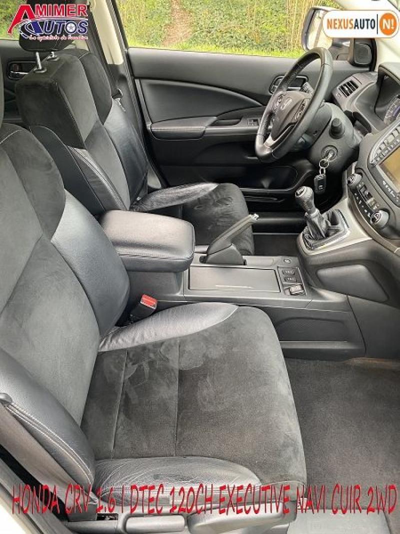 Photo 7 de l'offre de HONDA CR-V 1.6 I-DTEC 120CH EXECUTIVE NAVI CUIR 2WD à 12200€ chez Amimer autos