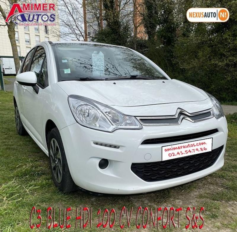 Photo 2 de l'offre de CITROEN C3 BLUEHDI 100 CONFORT S&S à 8490€ chez Amimer autos