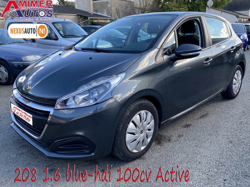Photo 1 de l'offre de PEUGEOT 208 1.6 BLUEHDI 100CH ACTIVE 5P à 10990€ chez Amimer autos