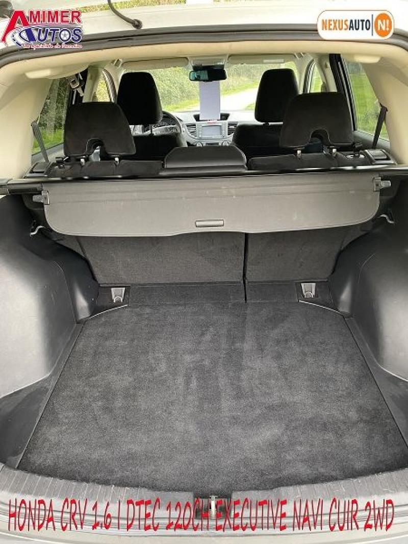 Photo 8 de l'offre de HONDA CR-V 1.6 I-DTEC 120CH EXECUTIVE NAVI CUIR 2WD à 12200€ chez Amimer autos
