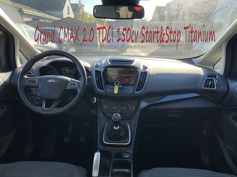 Photo 5 de l'offre de FORD GRAND C-MAX 2.0 TDCI 150CH STOP&START TITANIUM 7 PLACES à 14490€ chez Amimer autos